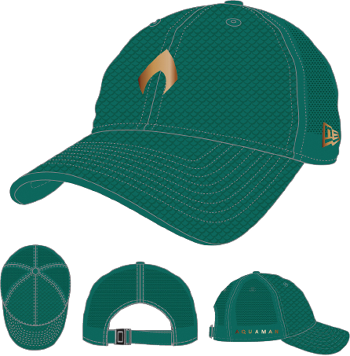 AQUAMAN MOVIE NORTHWEST GREEN 9TWENTY CAP