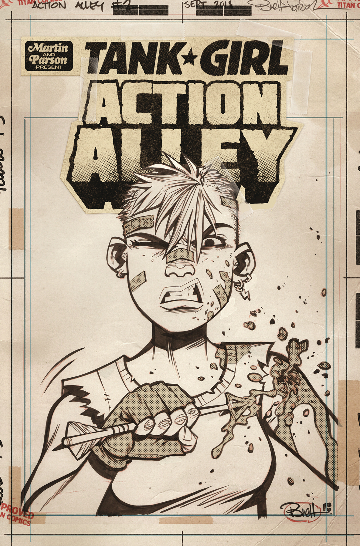 TANK GIRL ACTION ALLEY #2 CVR C ARTIST ED
