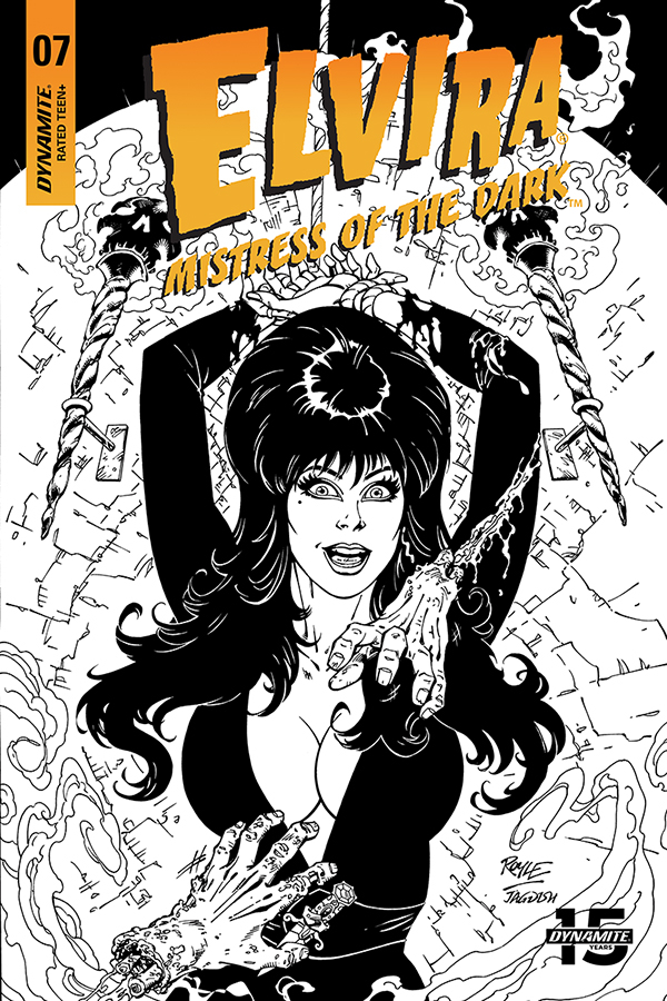 ELVIRA MISTRESS OF DARK #7 20 COPY ROYLE B&W INCV