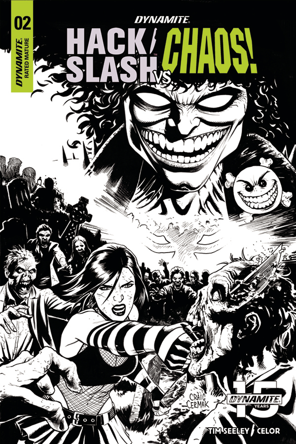 HACK SLASH VS CHAOS #2 10 COPY CERMAK B&W INCV