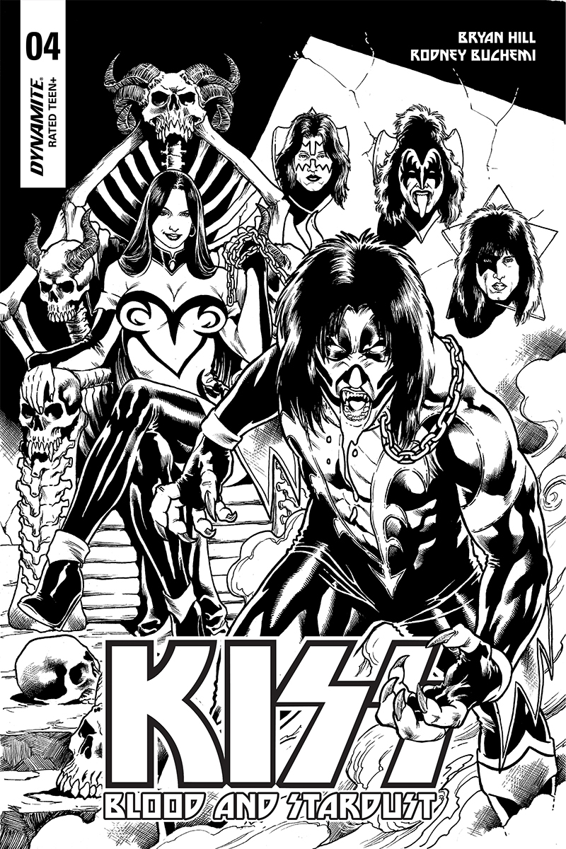 KISS BLOOD STARDUST #4 10 COPY BUCHEMI B&W INCV