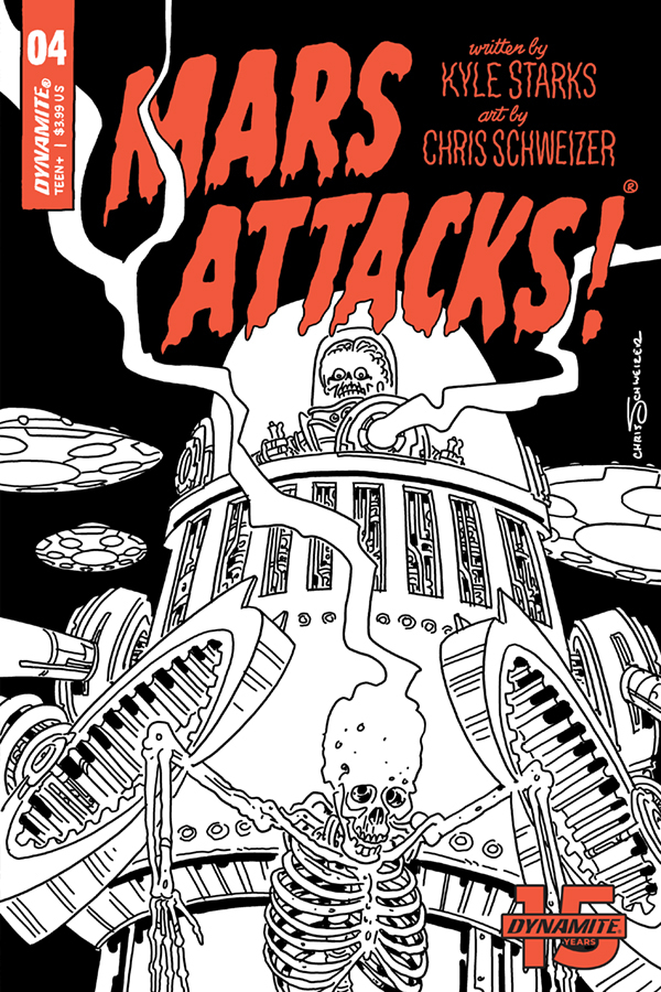 MARS ATTACKS #4 30 COPY SCHWEIZER B&W INCV