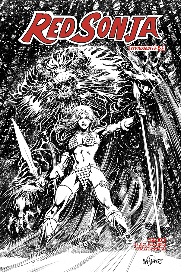 RED SONJA #25 25 COPY MANDRAKE B&W INCV