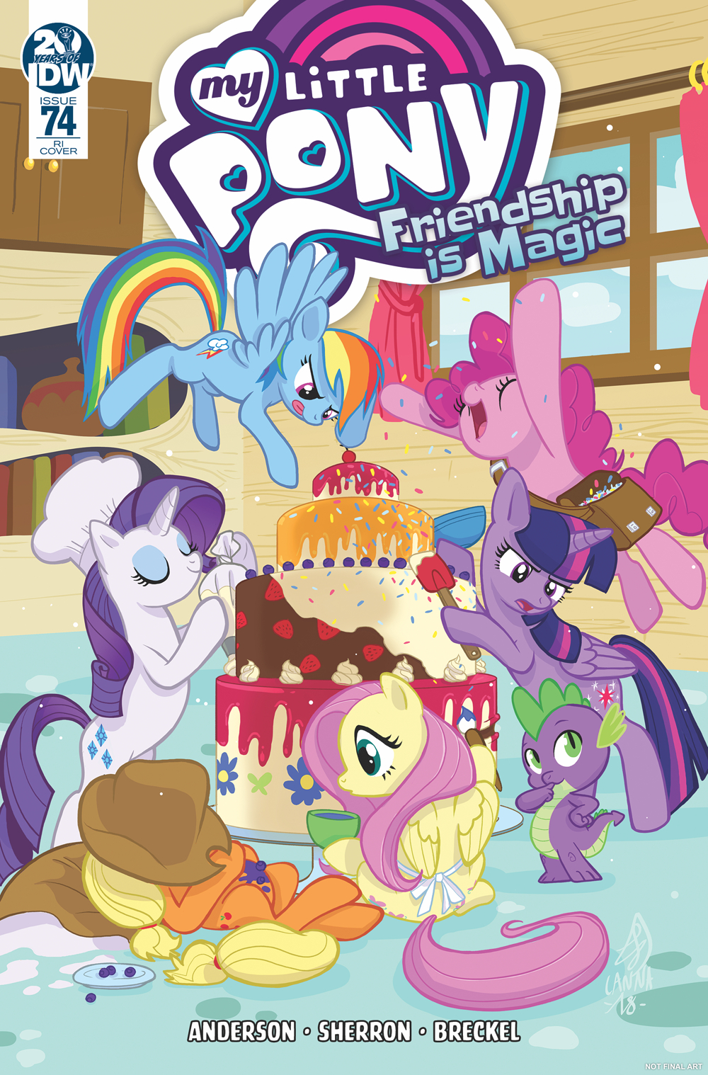 MY LITTLE PONY FRIENDSHIP IS MAGIC #74 10 COPY INCV SOUVANNY