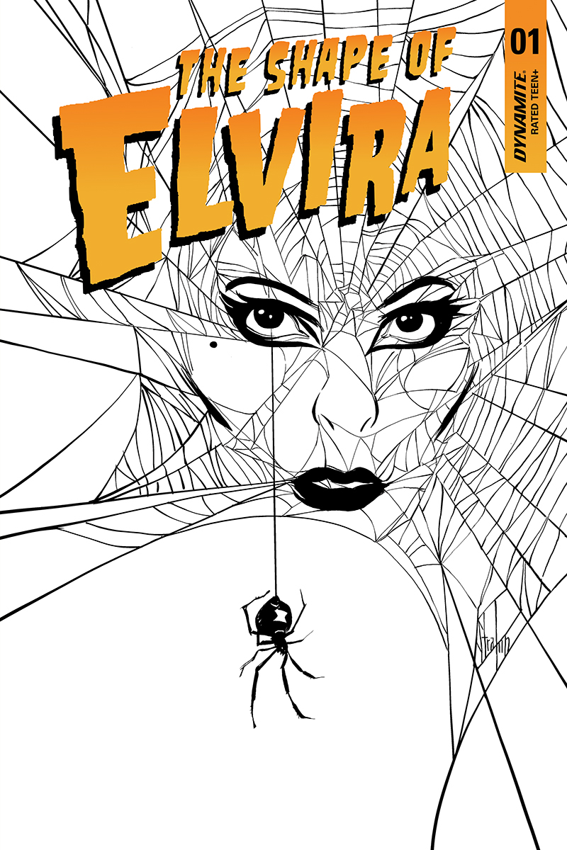 ELVIRA SHAPE OF ELVIRA #1 20 COPY STRAHM B&W INCV