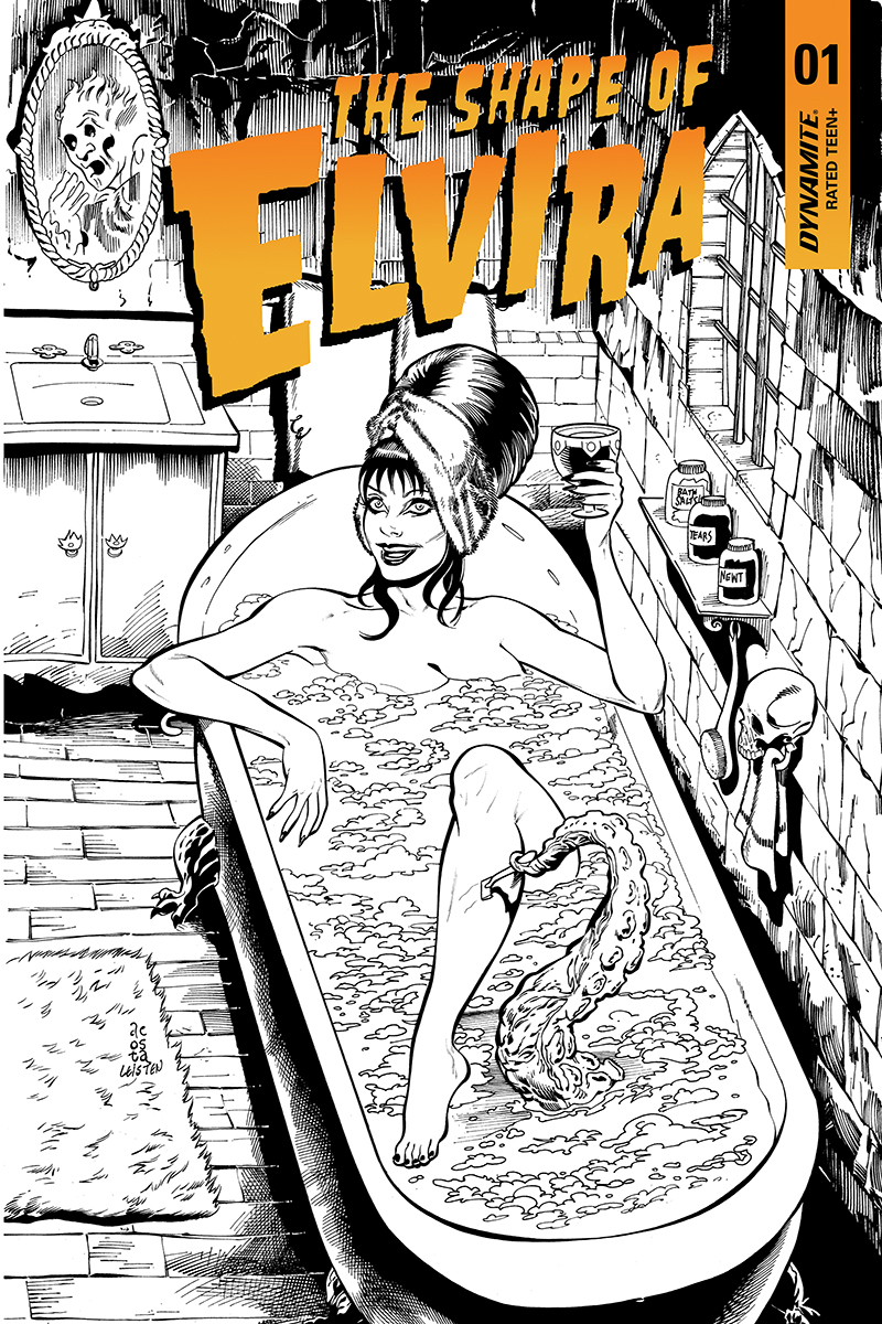 ELVIRA SHAPE OF ELVIRA #1 30 COPY ACOSTA B&W INCV