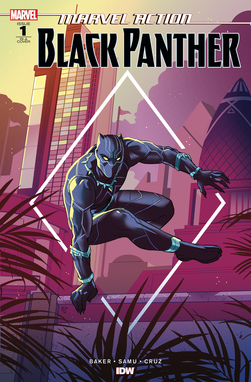 MARVEL ACTION BLACK PANTHER #1 10 COPY INCV BAKER (Net)