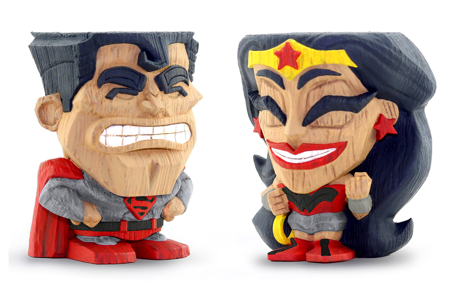 FCBD 2019 TEEKEEZ RED SON SUPERMAN WONDER WOMAN VIN FIG 2PK