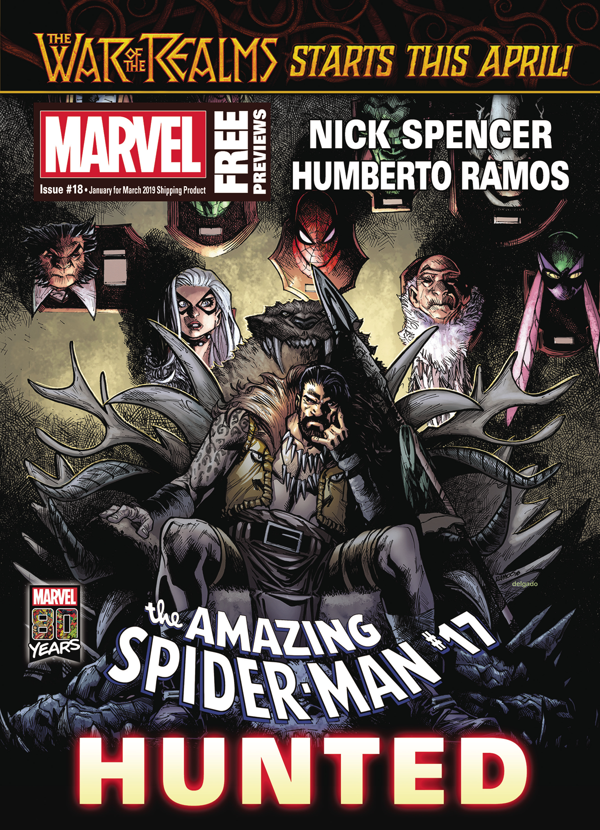 MARVEL PREVIEWS VOL 04 #18 JANUARY 2019 EXTRAS