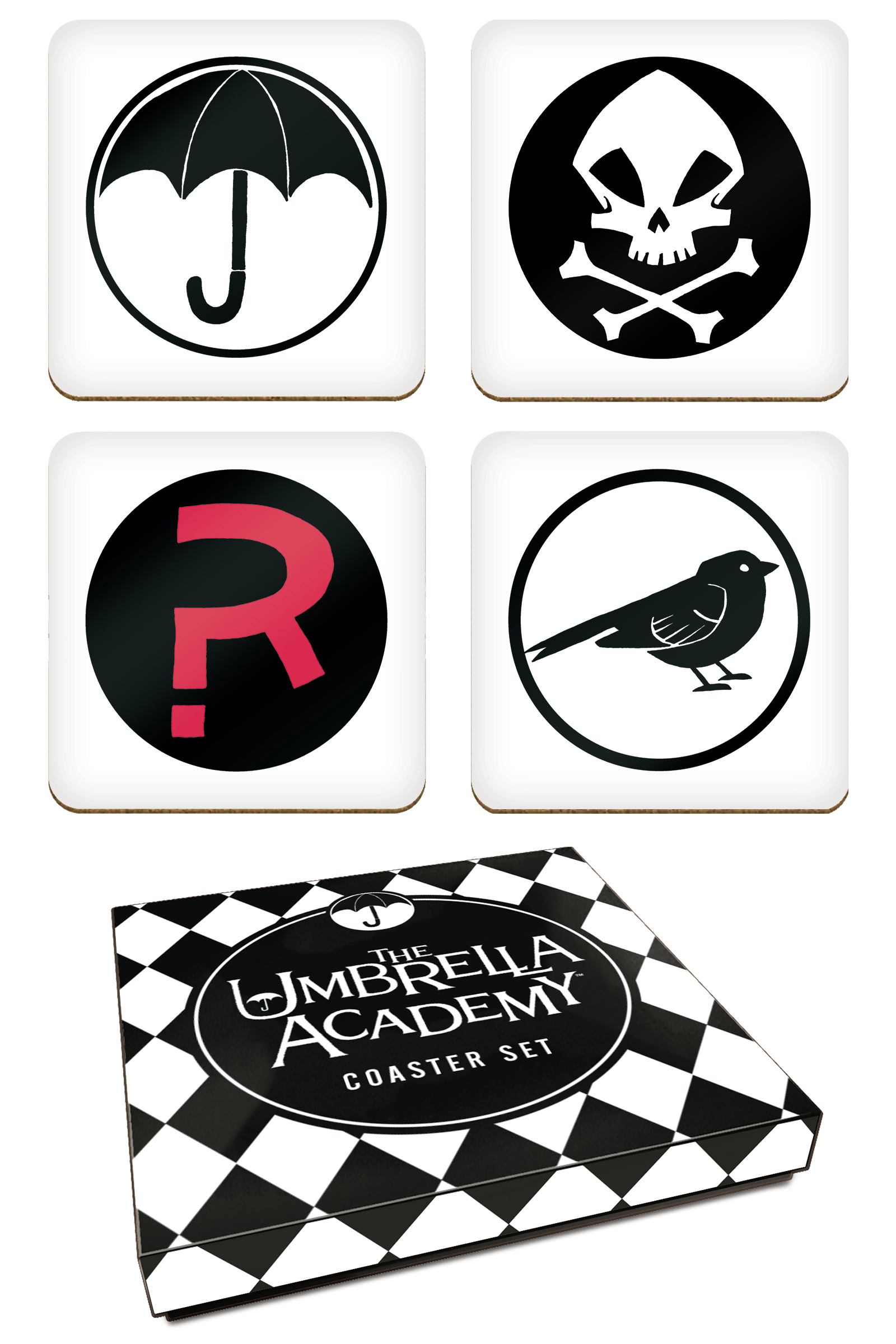 UMBRELLA ACADEMY COASTER SET