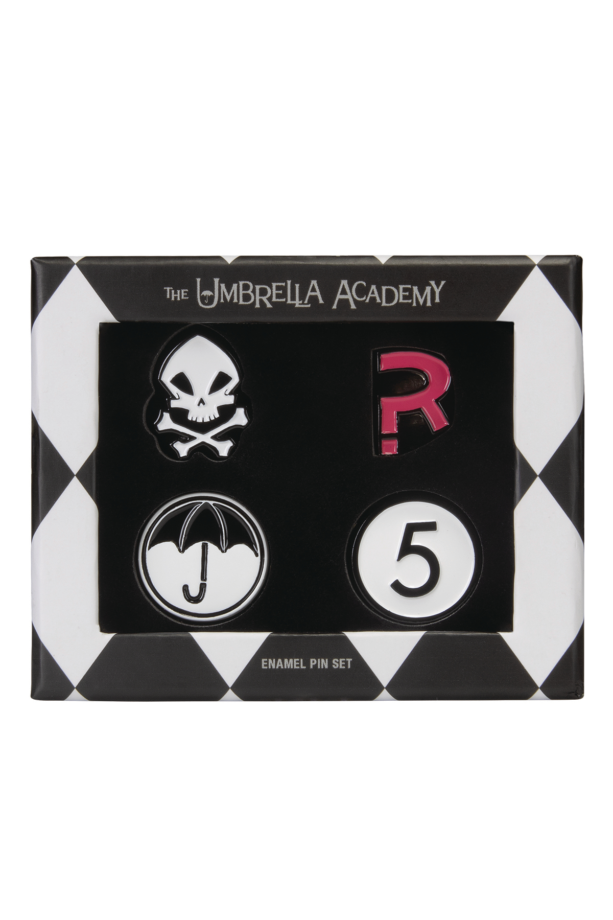 UMBRELLA ACADEMY ENAMEL PIN SET (O/A)