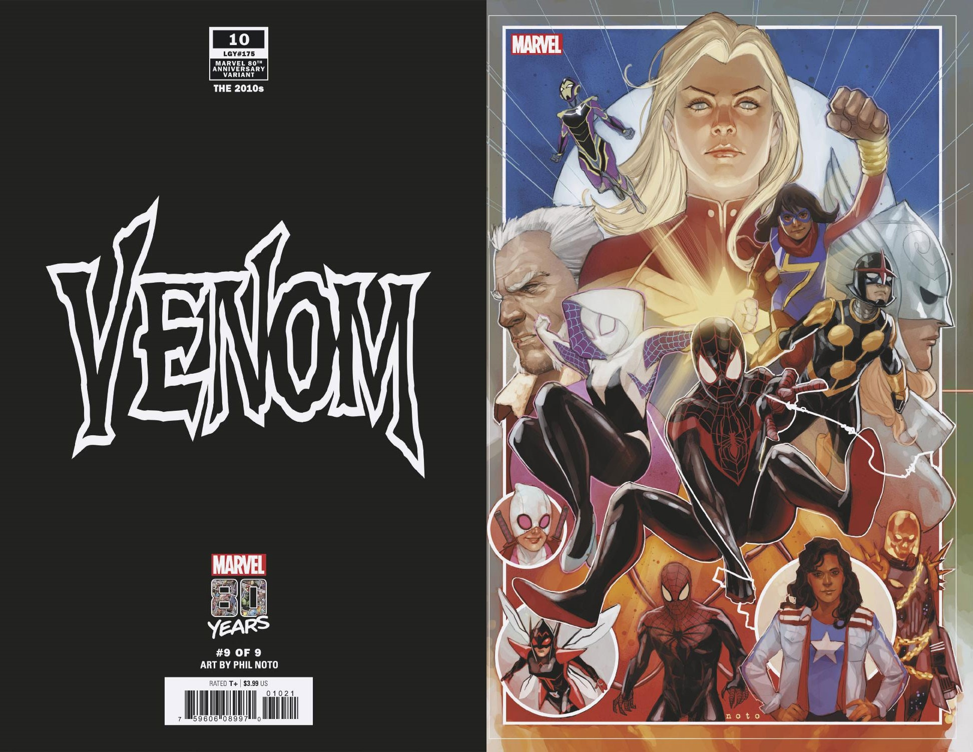 VENOM #10 NOTO MARVEL 80TH VAR