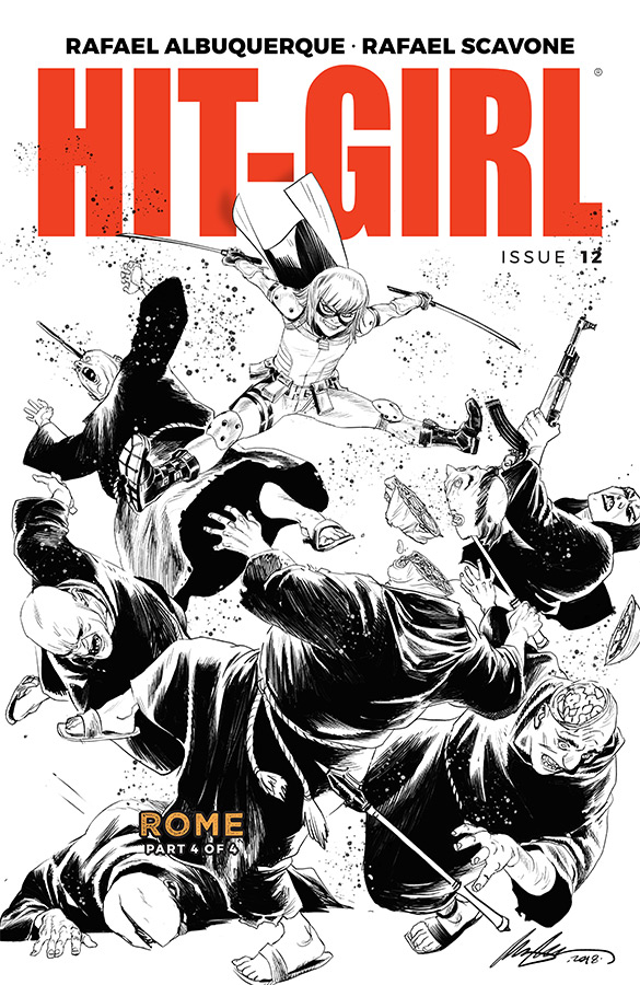 HIT-GIRL #12 CVR B B&W ALBUQUERQUE (MR)