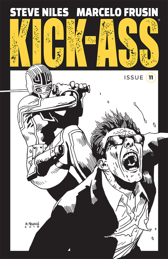 KICK-ASS #11 CVR B B&W FRUSIN (MR)