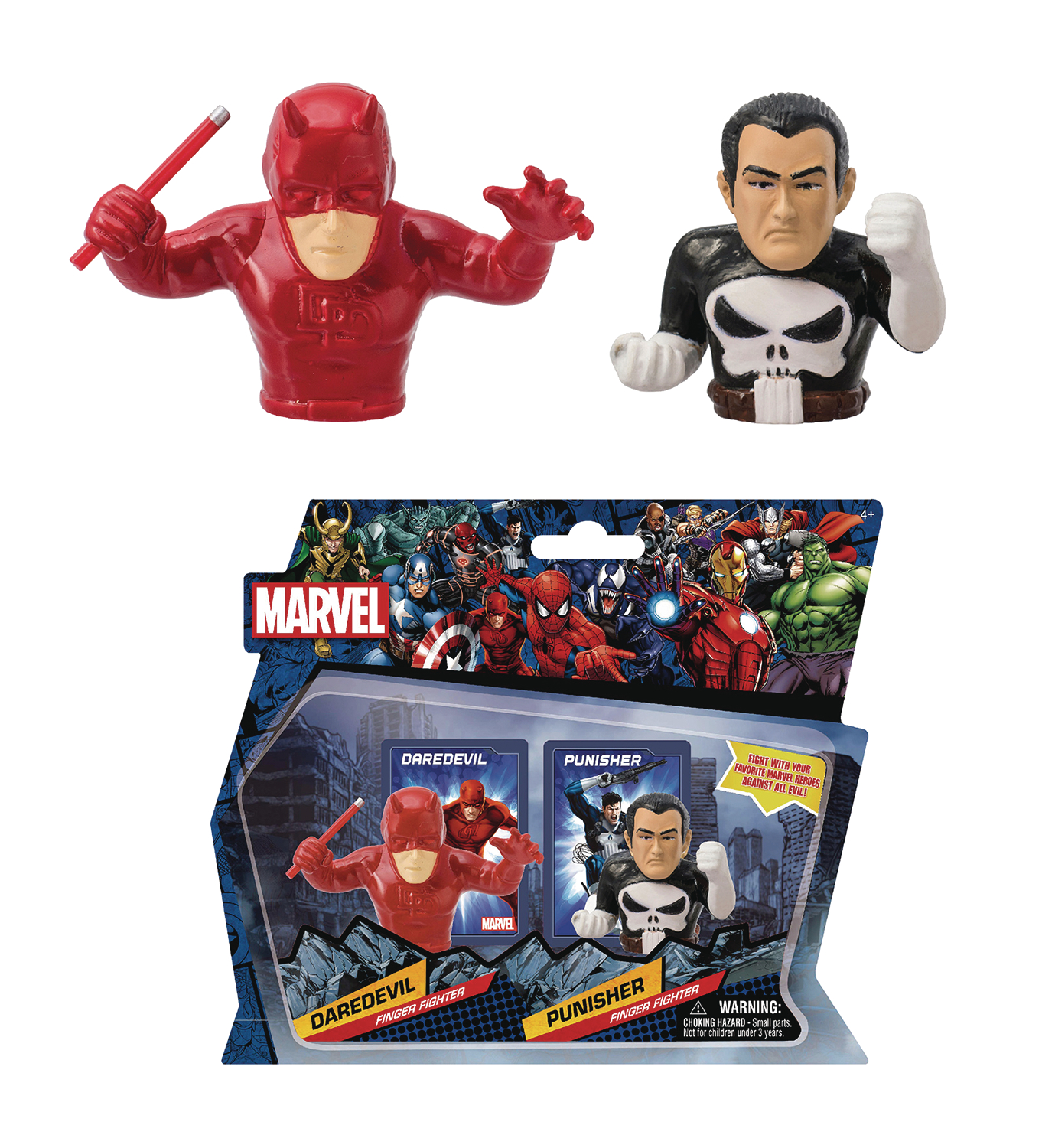 MARVEL HEROES DAREDEVIL VS PUNISHER FINGER FIGHTERS CS