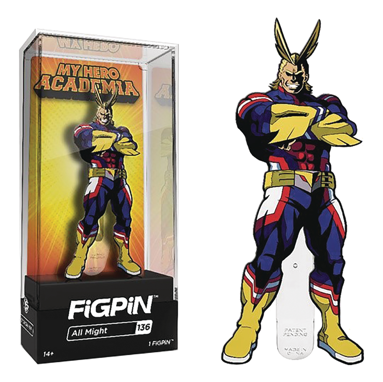 FIGPIN MY HERO ACADEMIA SER1 ALL MIGHT PIN