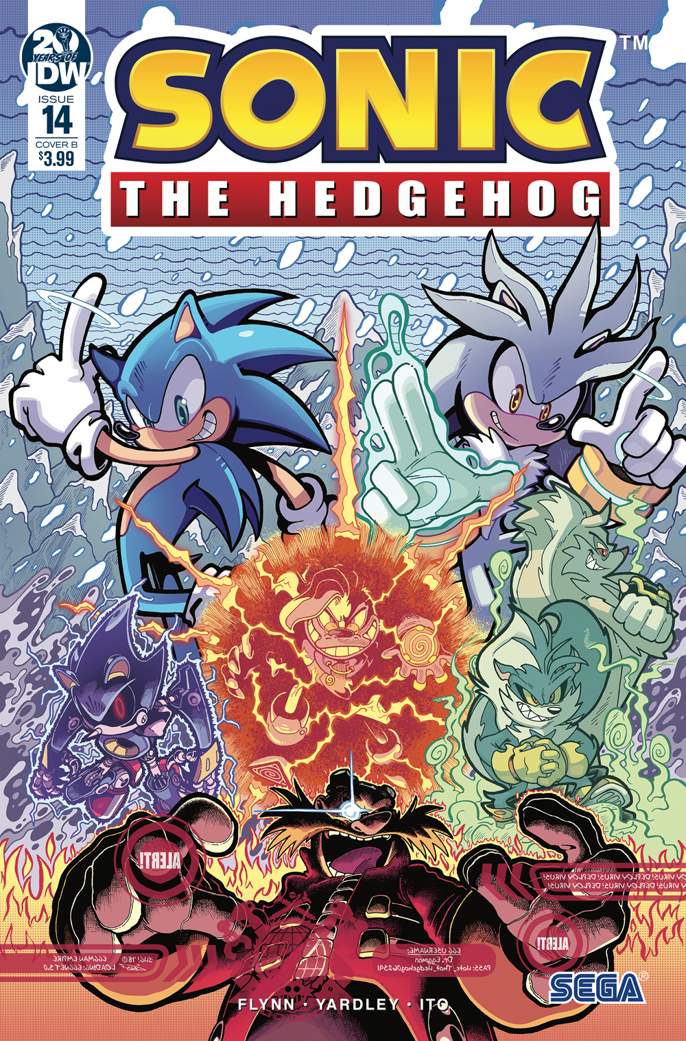 SONIC THE HEDGEHOG #14 CVR B GRAY