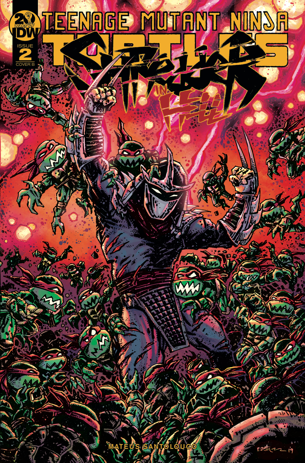 TMNT SHREDDER IN HELL #2 CVR B EASTMAN