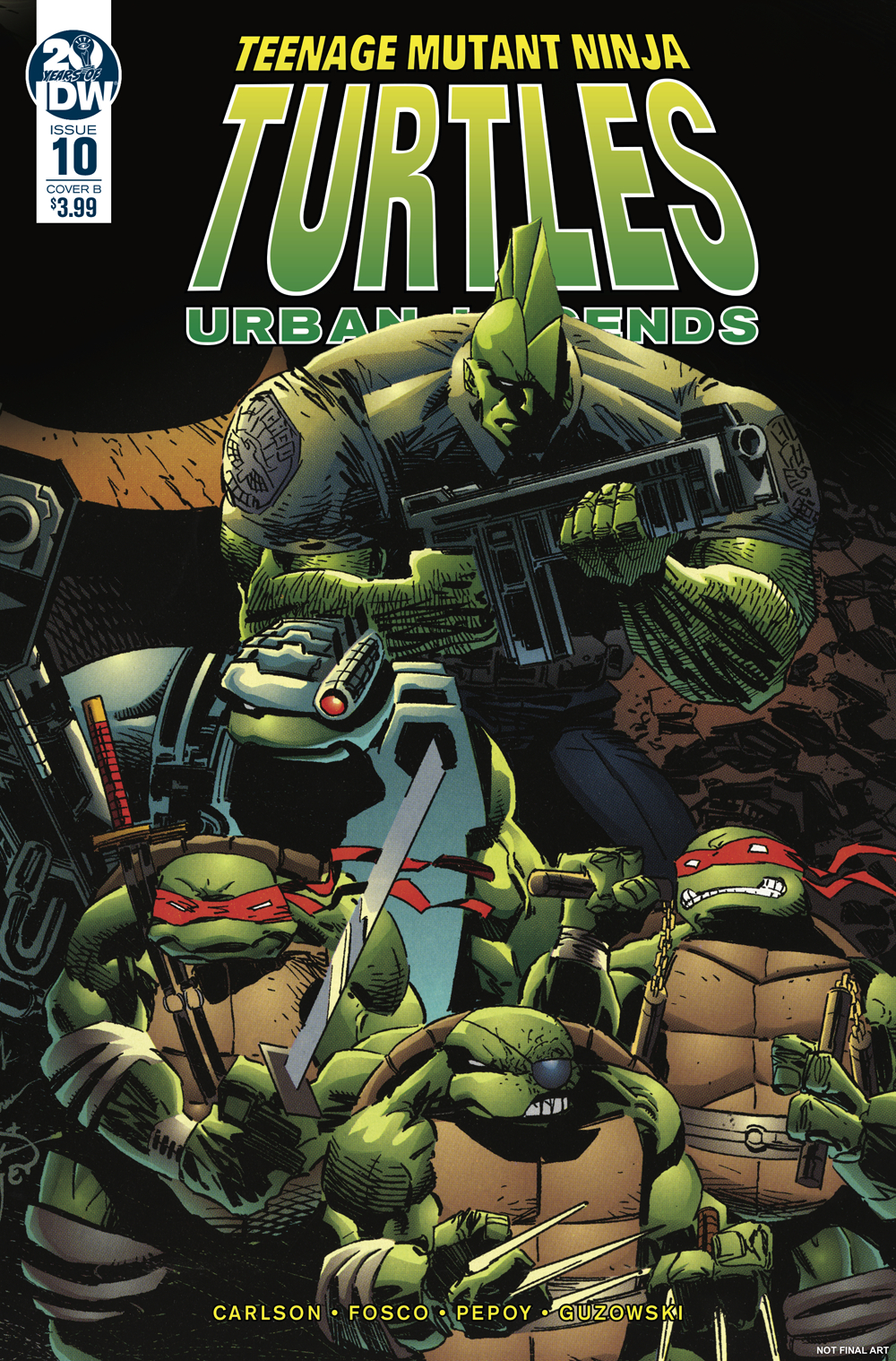 TMNT URBAN LEGENDS #10 CVR B FOSCO & LARSEN