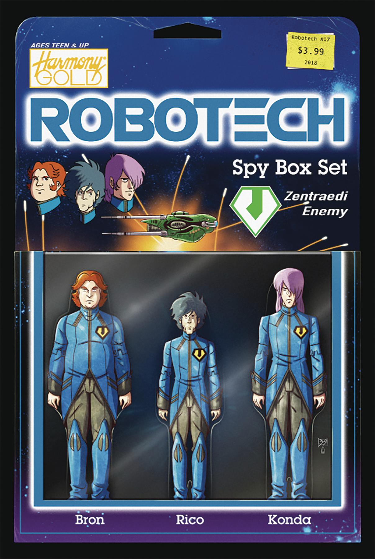 ROBOTECH #17 CVR B ACTION FIGURE VAR