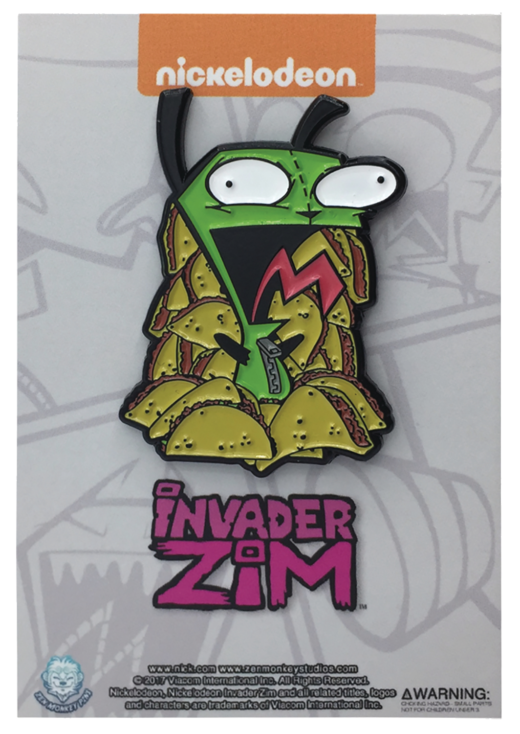 INVADER ZIM GIR TACO OVERLOAD PIN