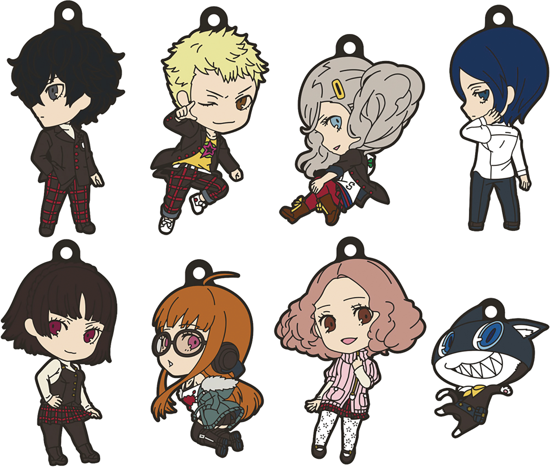 PERSONA 5 NENDOROID PLUS KEYCHAIN 8PC BMB DS
