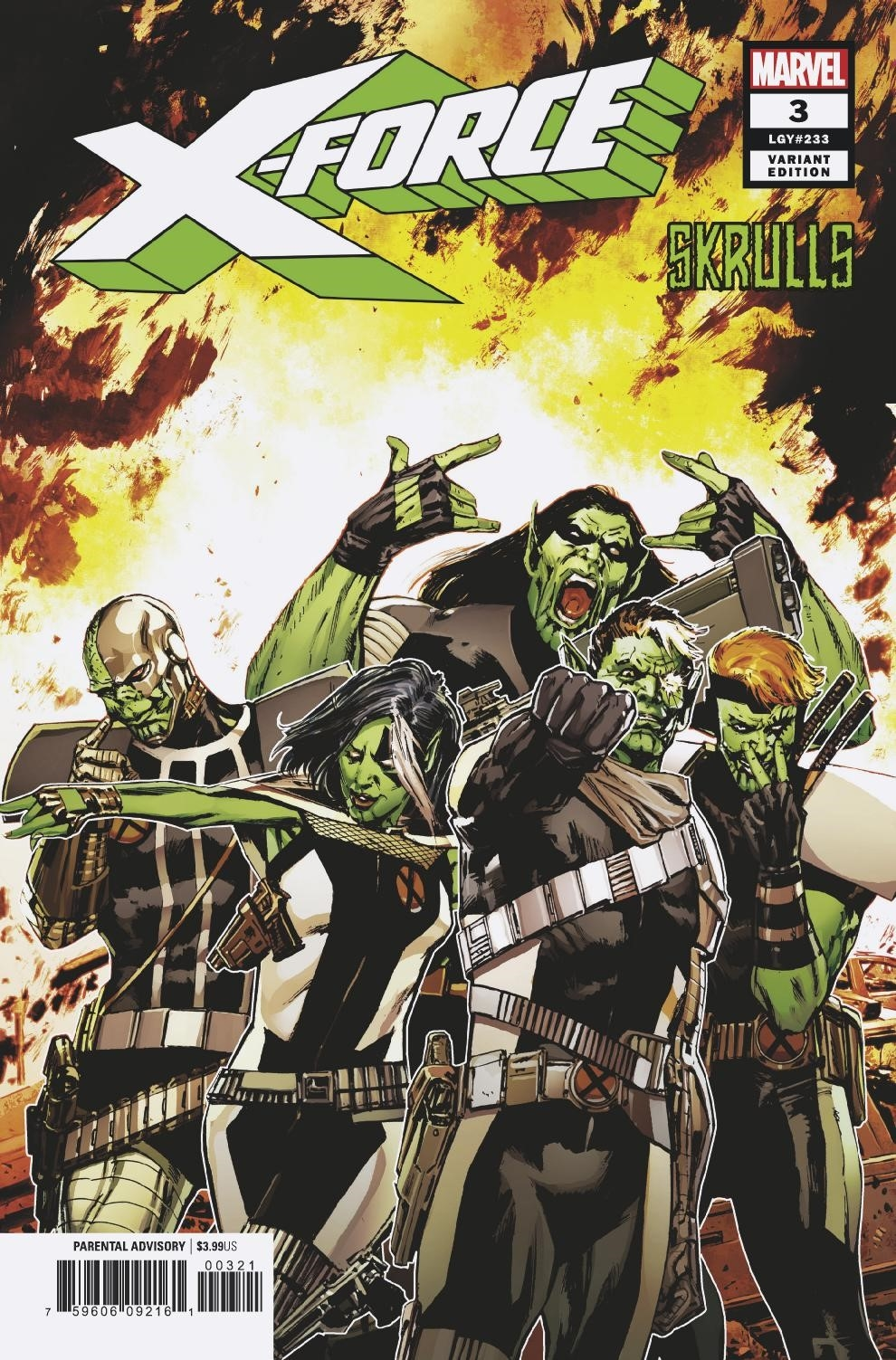 X-FORCE #3 GUICE SKRULLS VAR
