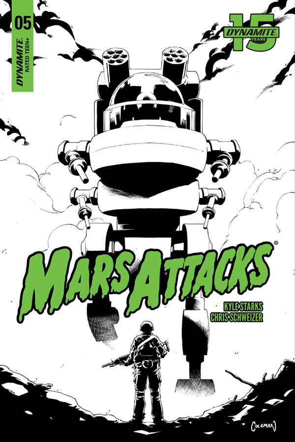 MARS ATTACKS #5 20 COPY COLEMAN B&W INCV