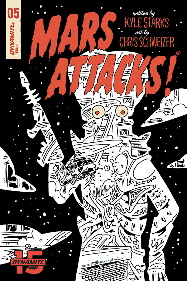 MARS ATTACKS #5 30 COPY SCHWEIZER B&W INCV