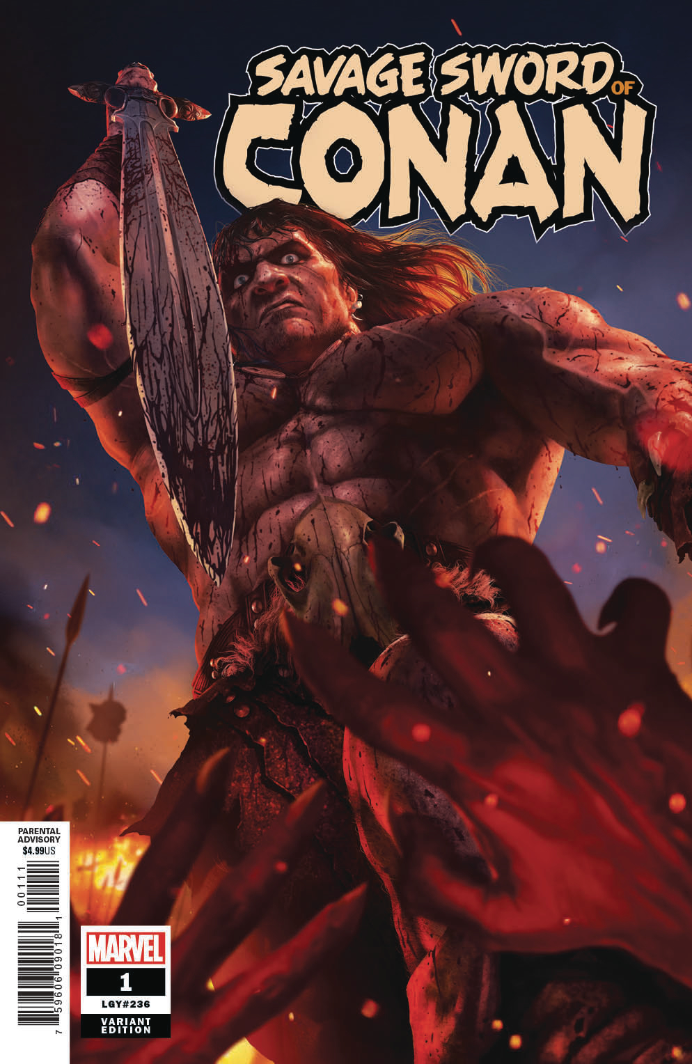 SAVAGE SWORD OF CONAN #1 RAHZZAH VAR