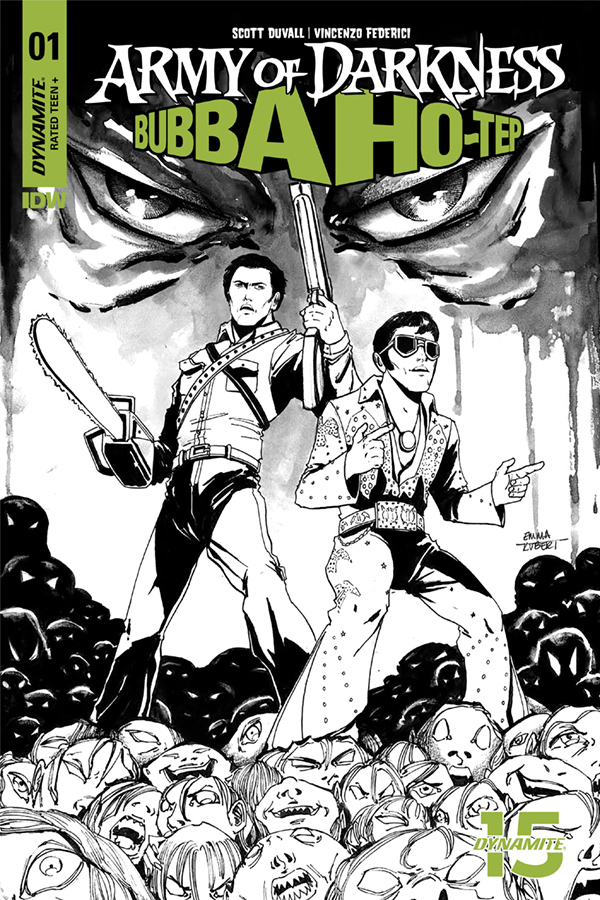 ARMY OF DARKNESS BUBBA HOTEP #1 20 COPY KUBERT B&W INCV (NET
