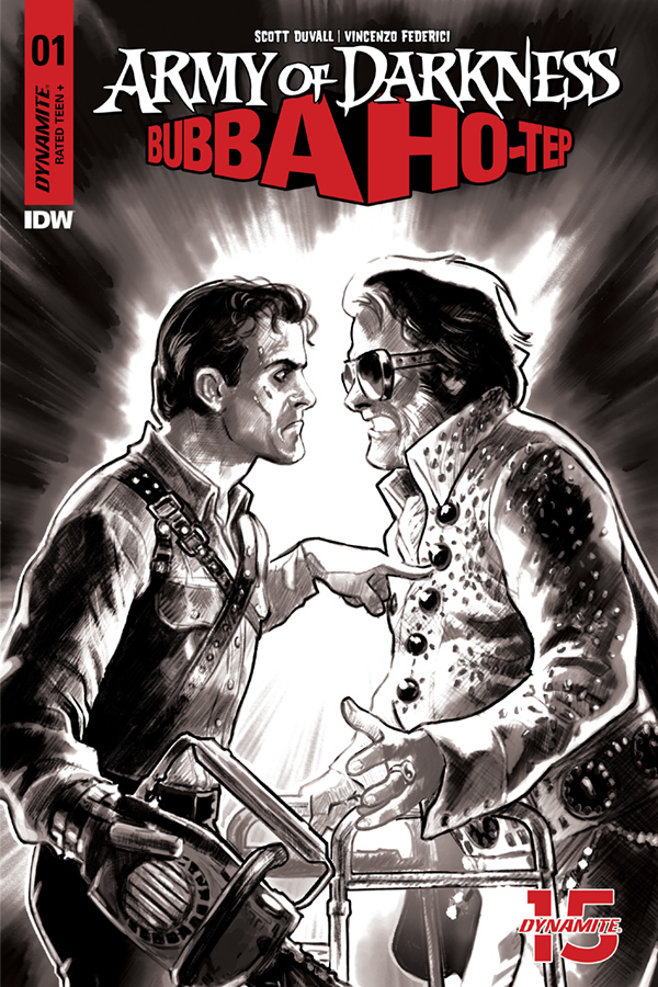ARMY OF DARKNESS BUBBA HOTEP #1 30 COPY GALINDO B&W INCV (NE