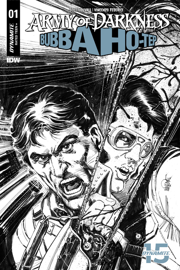 ARMY OF DARKNESS BUBBA HOTEP #1 40 COPY MANDRAKE B&W INCV (N