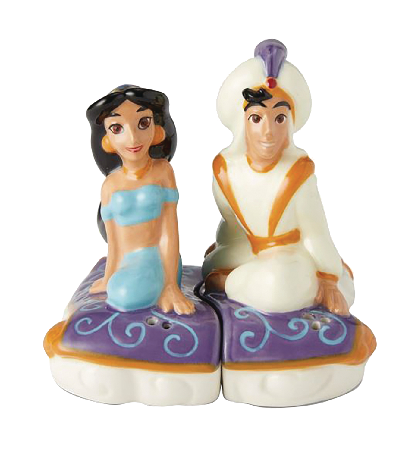 DISNEY ALADDIN & JASMINE SALT AND PEPPER SHAKERS