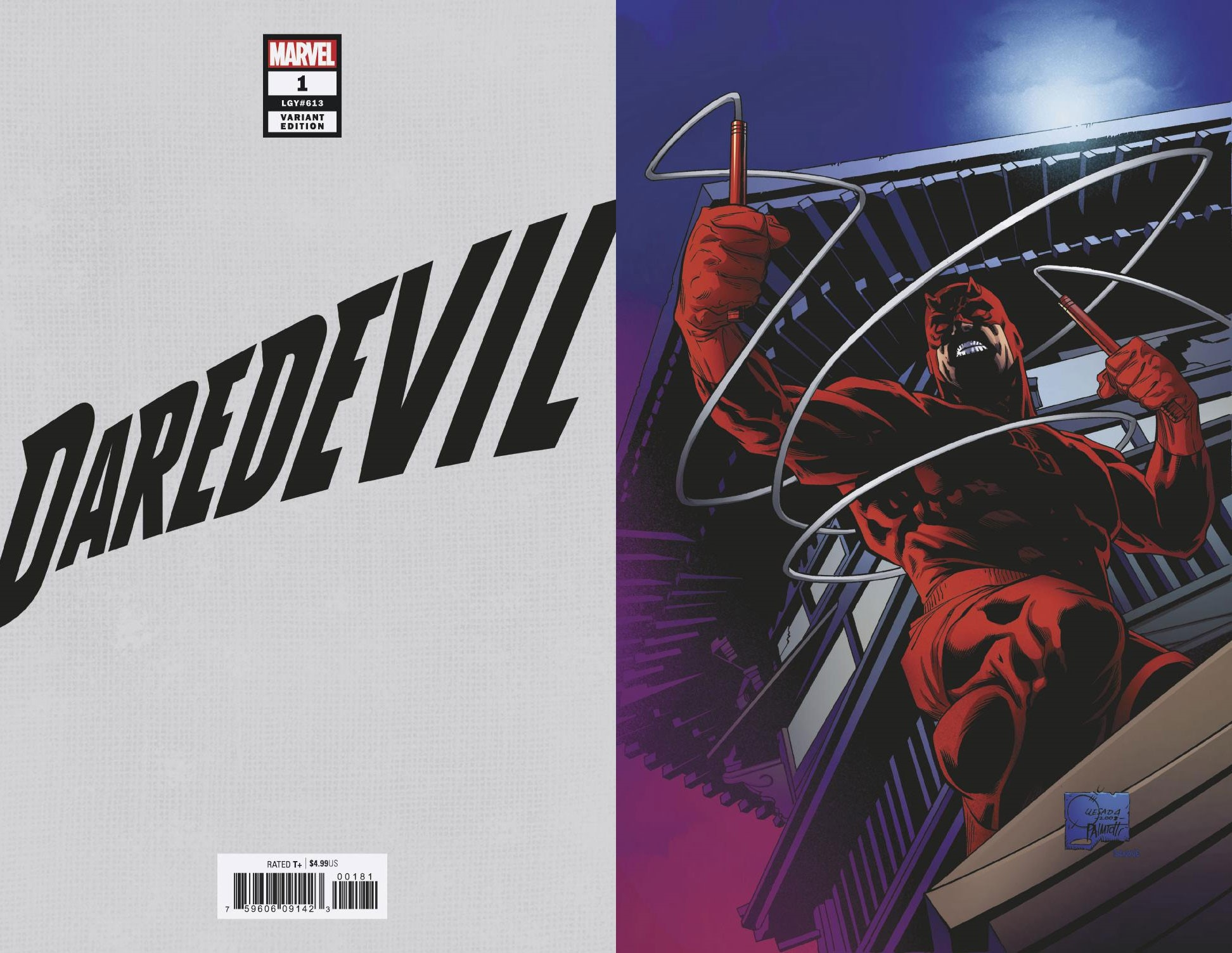 DAREDEVIL #1 QUESADA HIDDEN GEM VIRGIN VAR