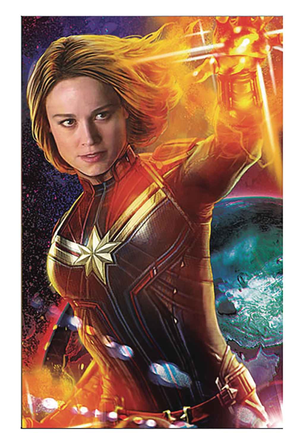 CAPTAIN MARVEL MOVIE 11X17 FRAMED PRINT