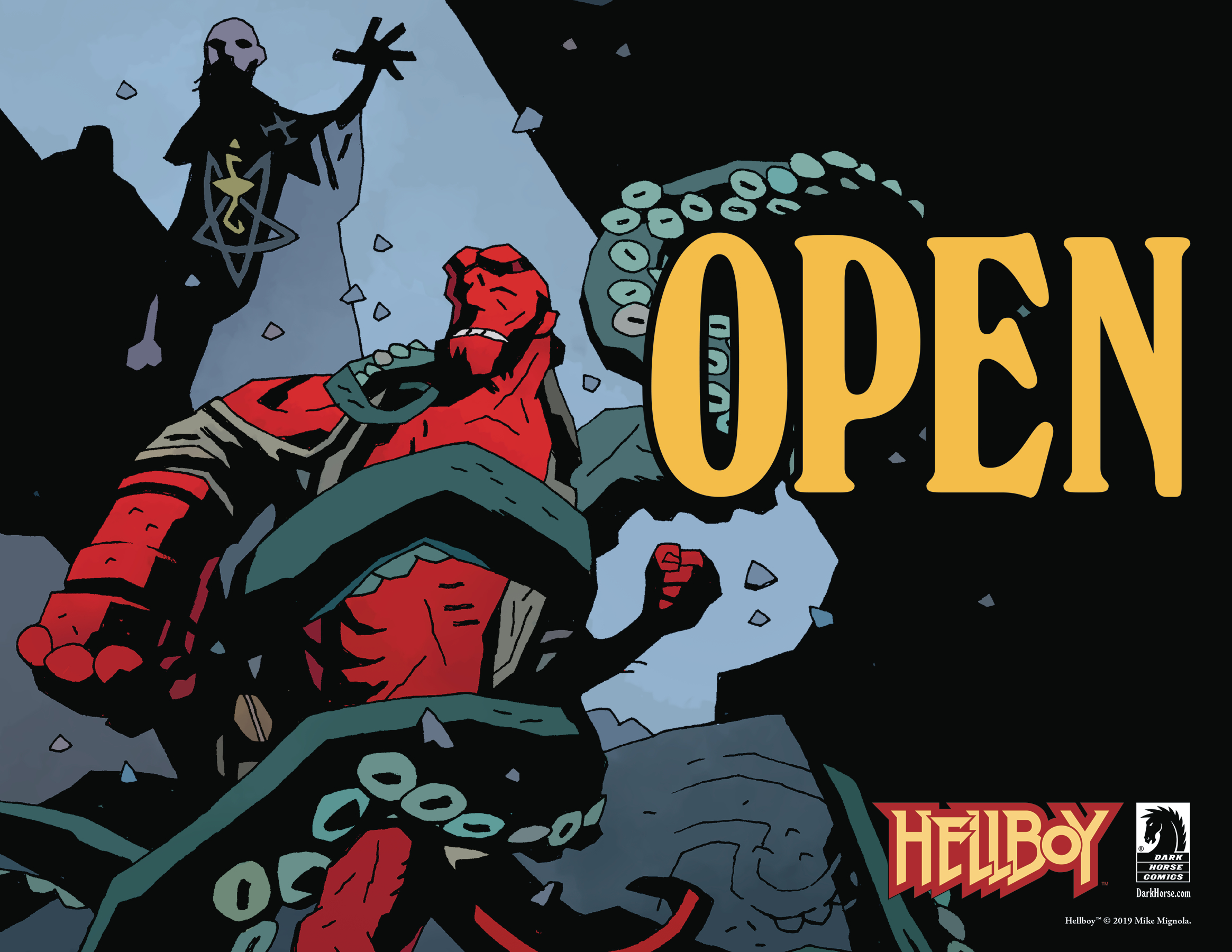HELLBOY DAY 2019 OPEN CLOSE SIGN