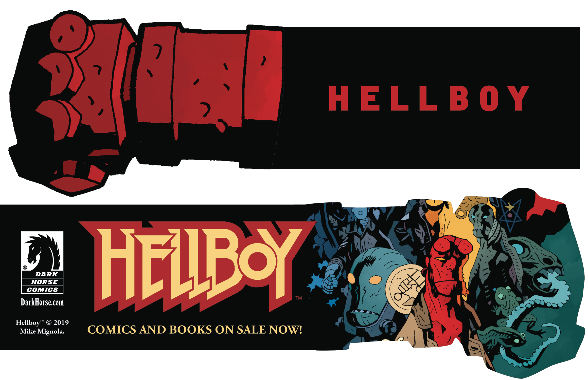 HELLBOY DAY 2019 RIGHT HAND OF DOOM BOOKMARK (BUNDLE OF 25)
