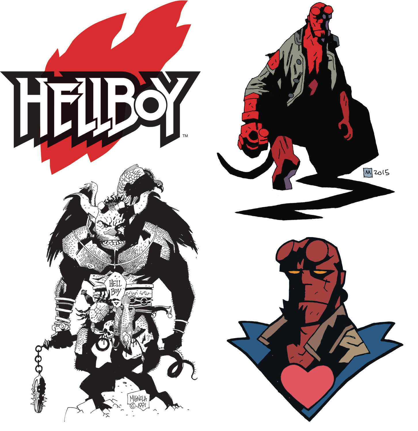 HELLBOY DAY 2019 TEMPORARY TATTOO SHEET (BUNDLE OF 25)