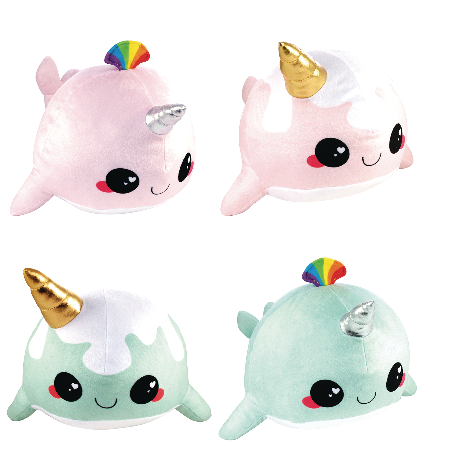 GLITTER GALAXY NARWHAL 9IN PLUSH 6PC ASST