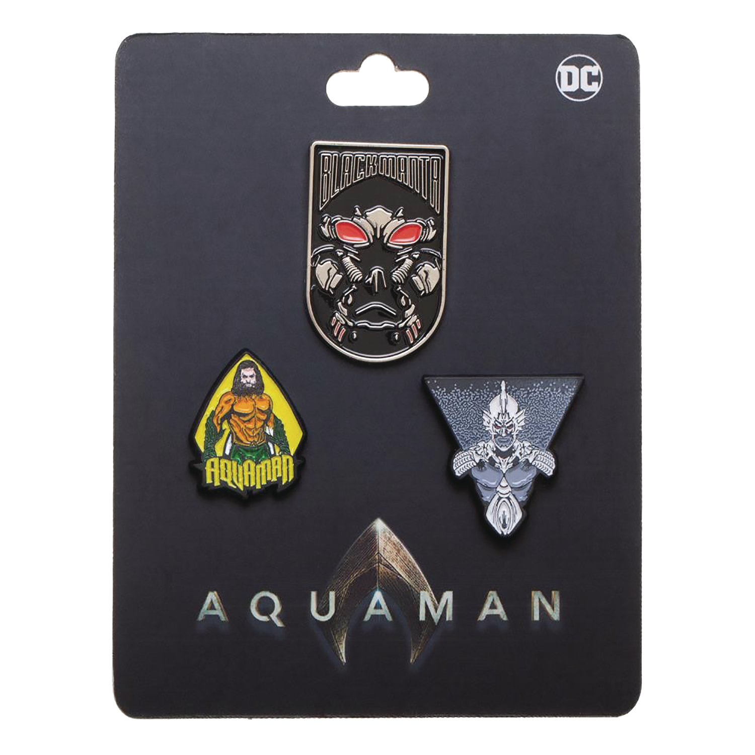 AQUAMAN MOVIE 3PC LAPEL PIN SET