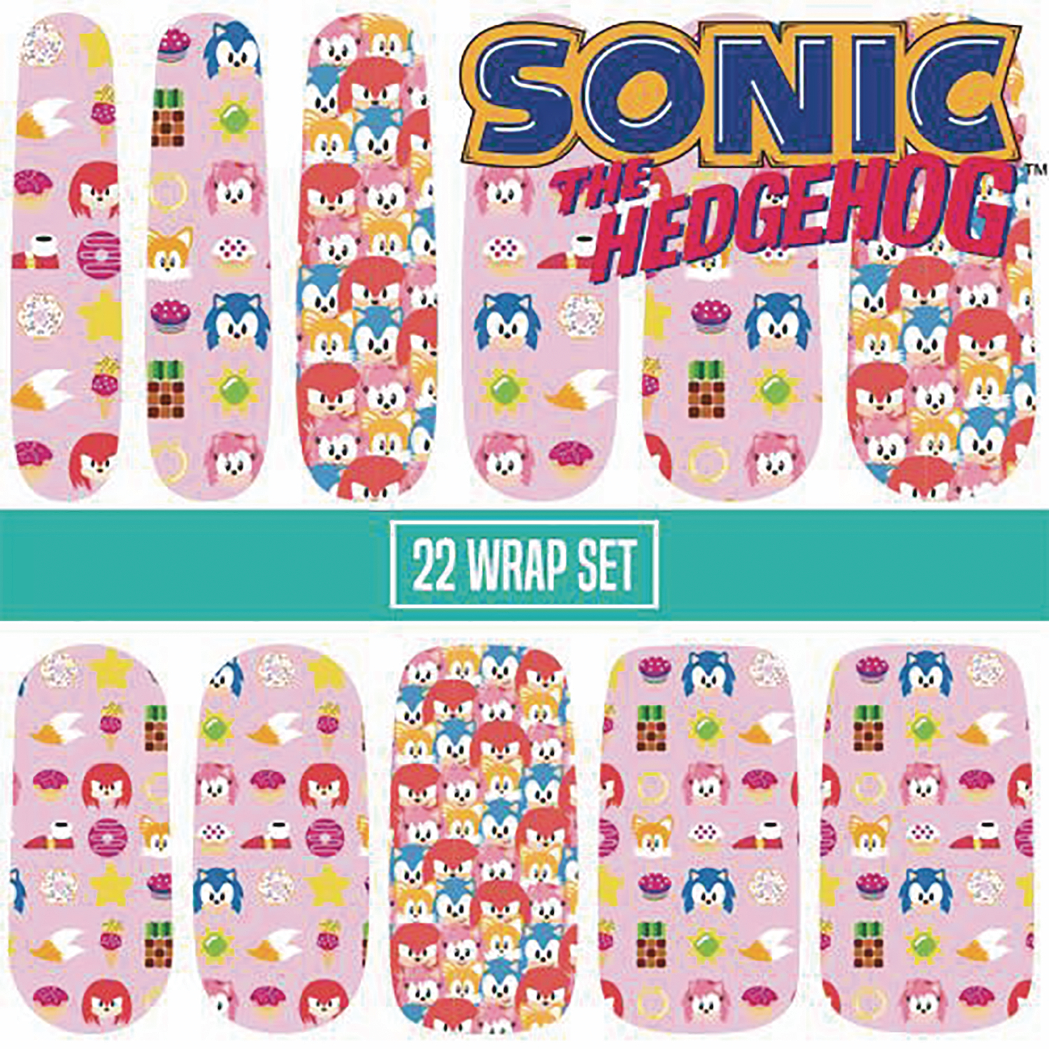 SONIC THE HEDGEHOG CANDY POP NAIL WRAPS SET