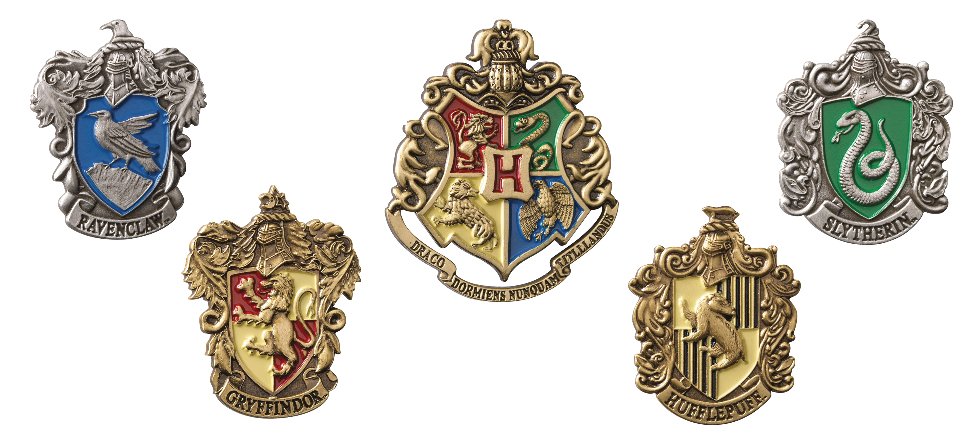 HARRY POTTER HOUSE CREST PINS SET