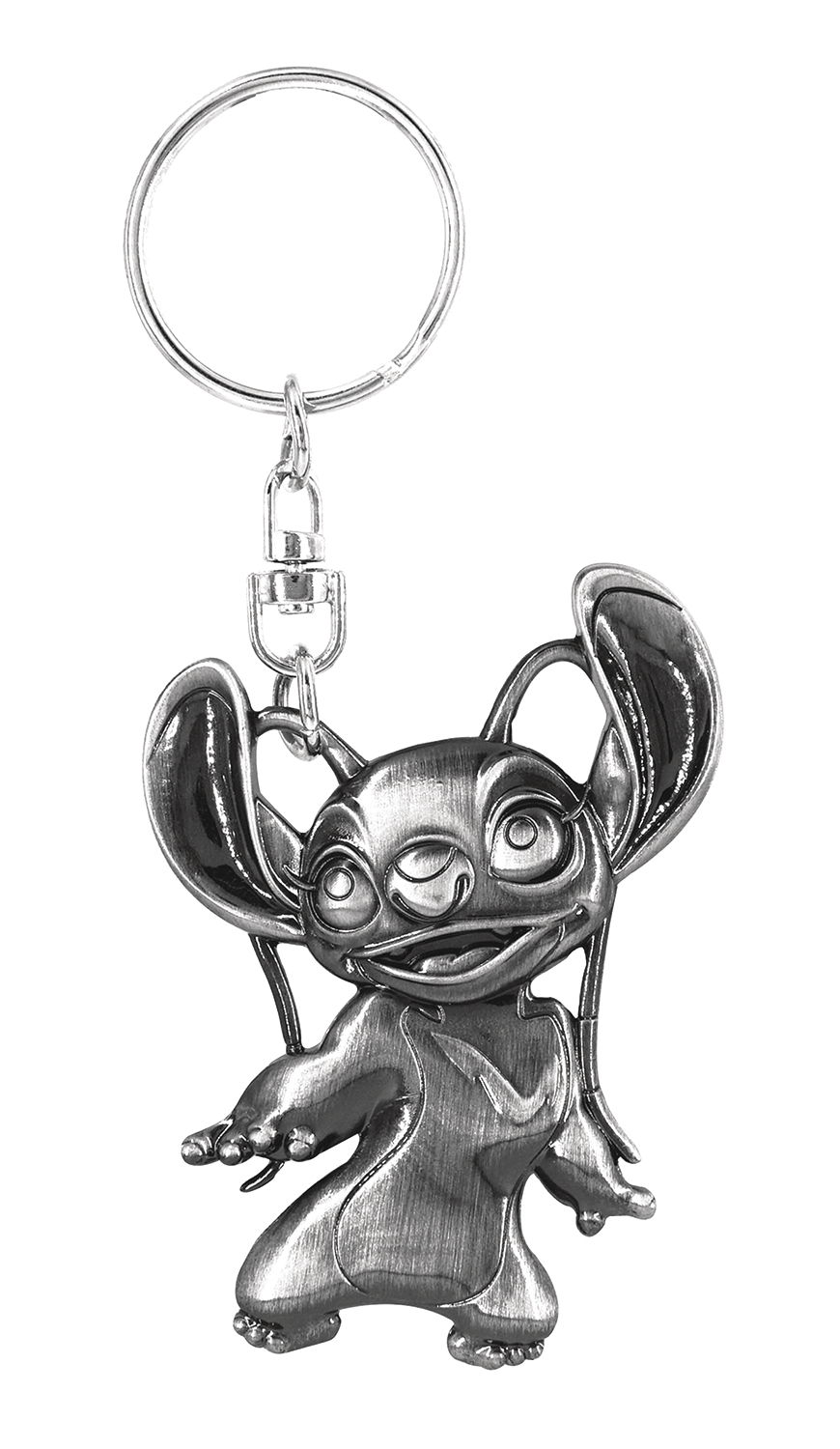 LILO AND STITCH ANGEL PEWTER KEY RING