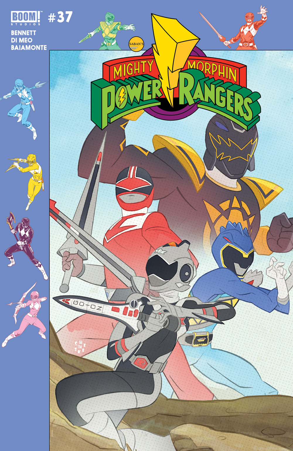 MIGHTY MORPHIN POWER RANGERS #37 PREORDER GALLOWAY VAR