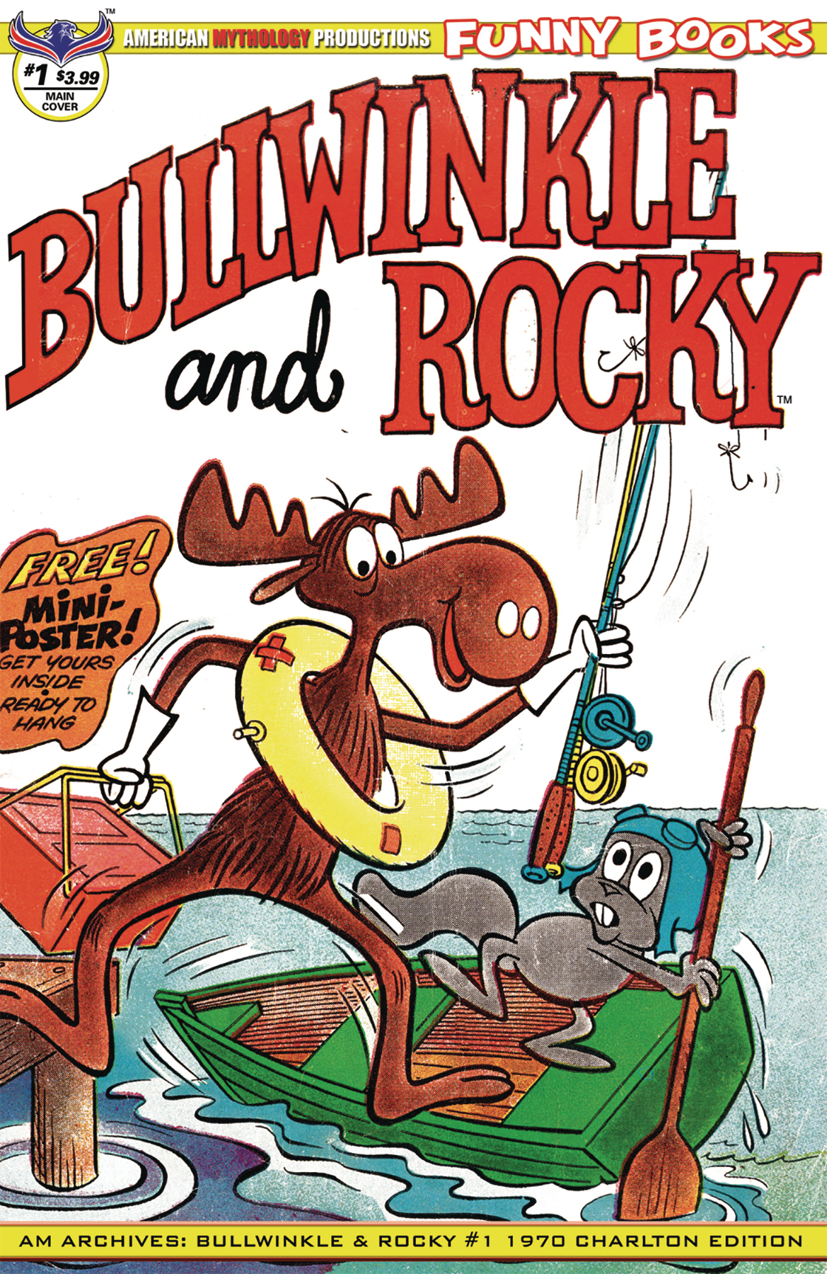 AM ARCHIVES BULLWINKLE & ROCKY #1 CHARLTON ED
