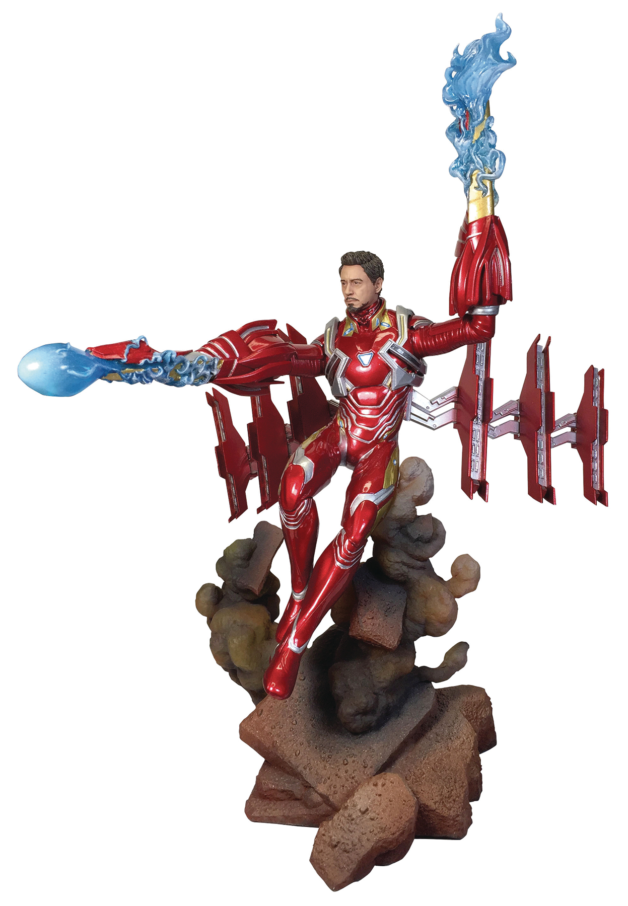 MARVEL GALLERY AVENGERS 3 UNMASKED IRON MAN MK50 DLX PVC FIG