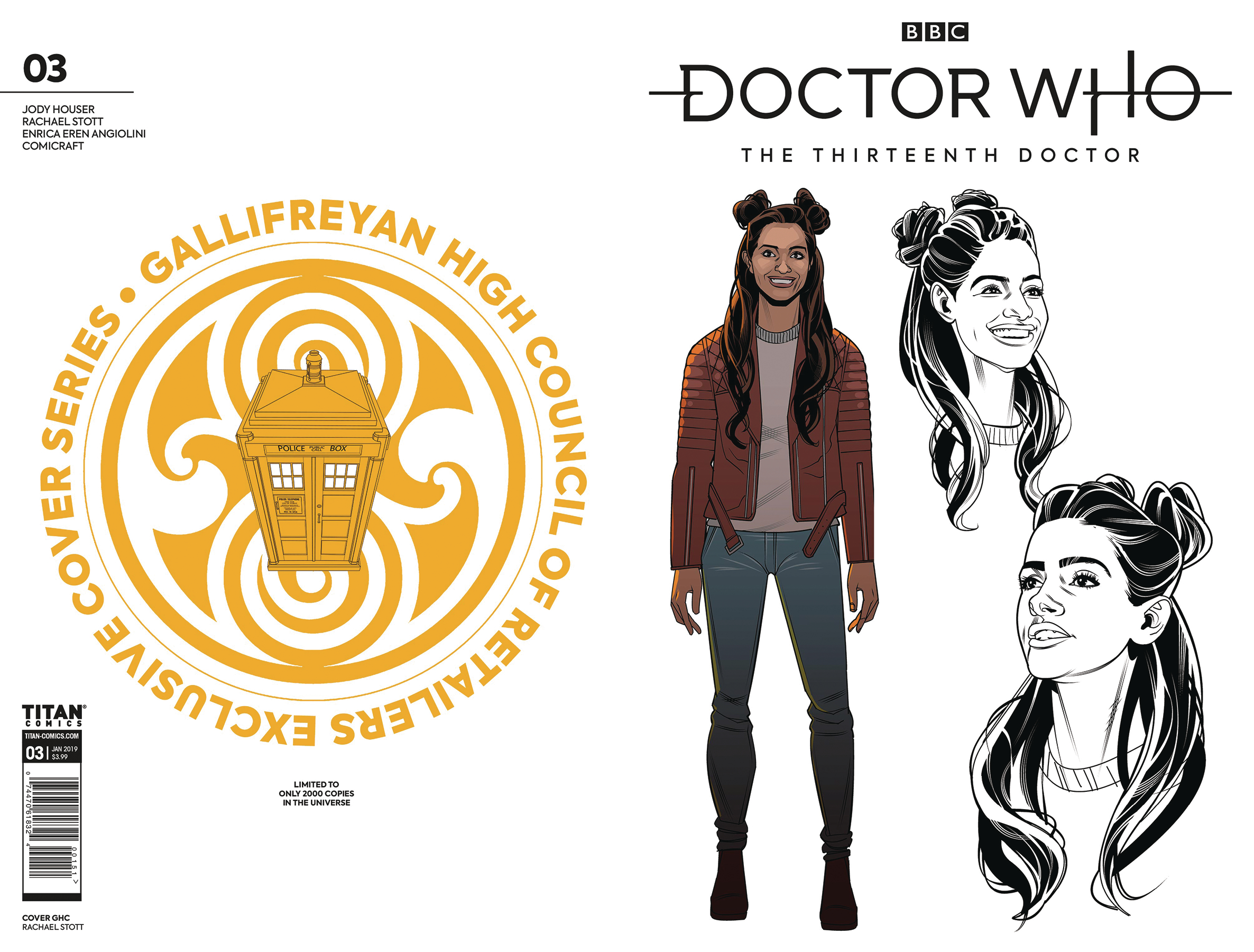 DOCTOR WHO 13TH #3 GALLIFREYAN HIGH COUNCIL VAR