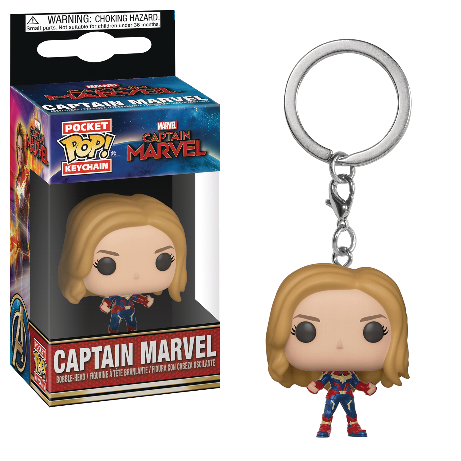 POCKET POP MARVEL CAPTAIN MARVEL CAPT MARVEL FIG KEYCHAIN (C
