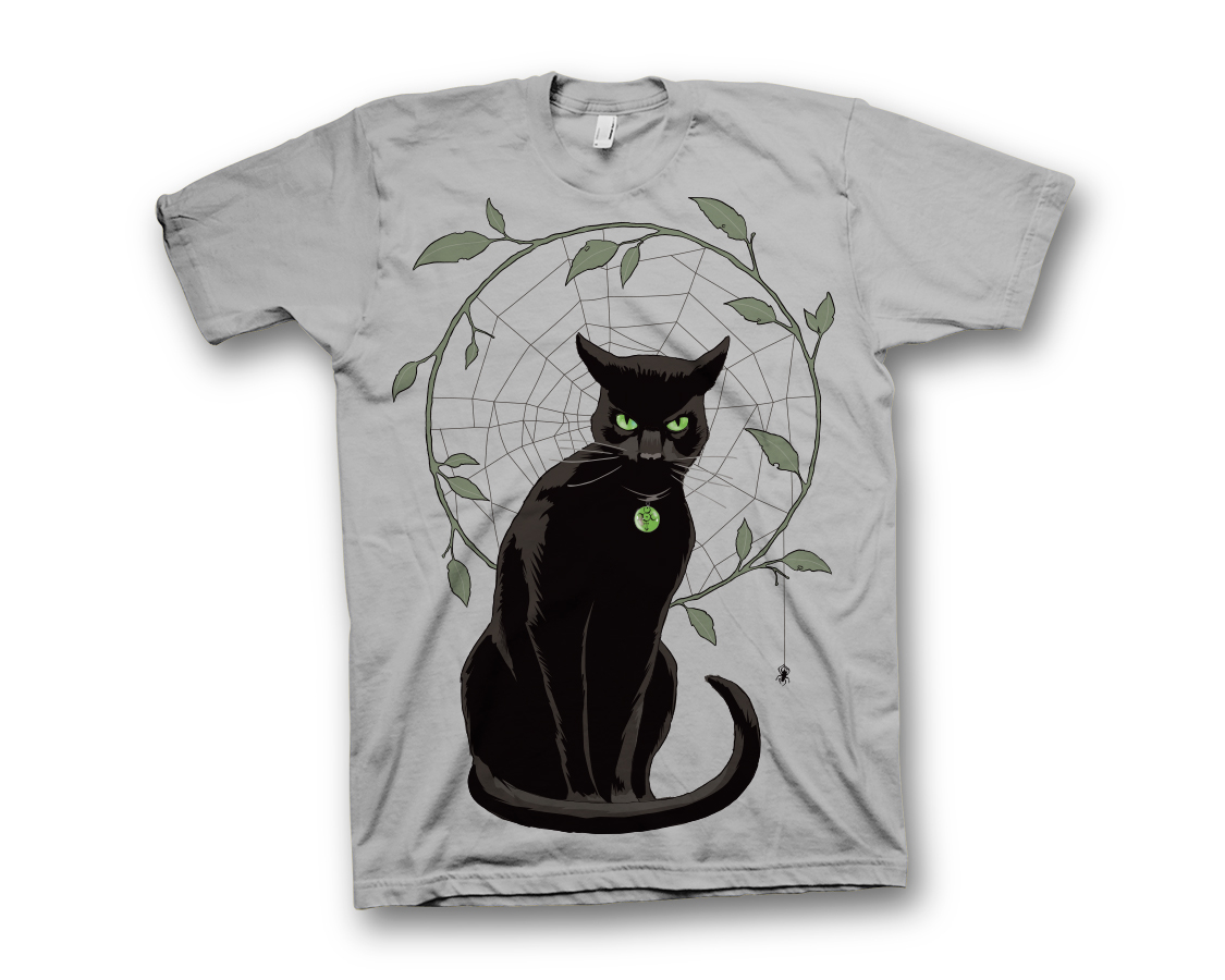 BLACK MAGICK HAWTHORNE CAT T/S XL